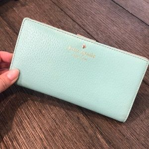 Kate Spade Mint Blue Bifold Wallet